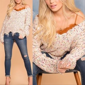 POPCORN SWEATER womens cozy comfy casual